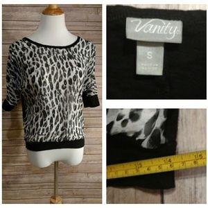 Vanity Cheetah Print top